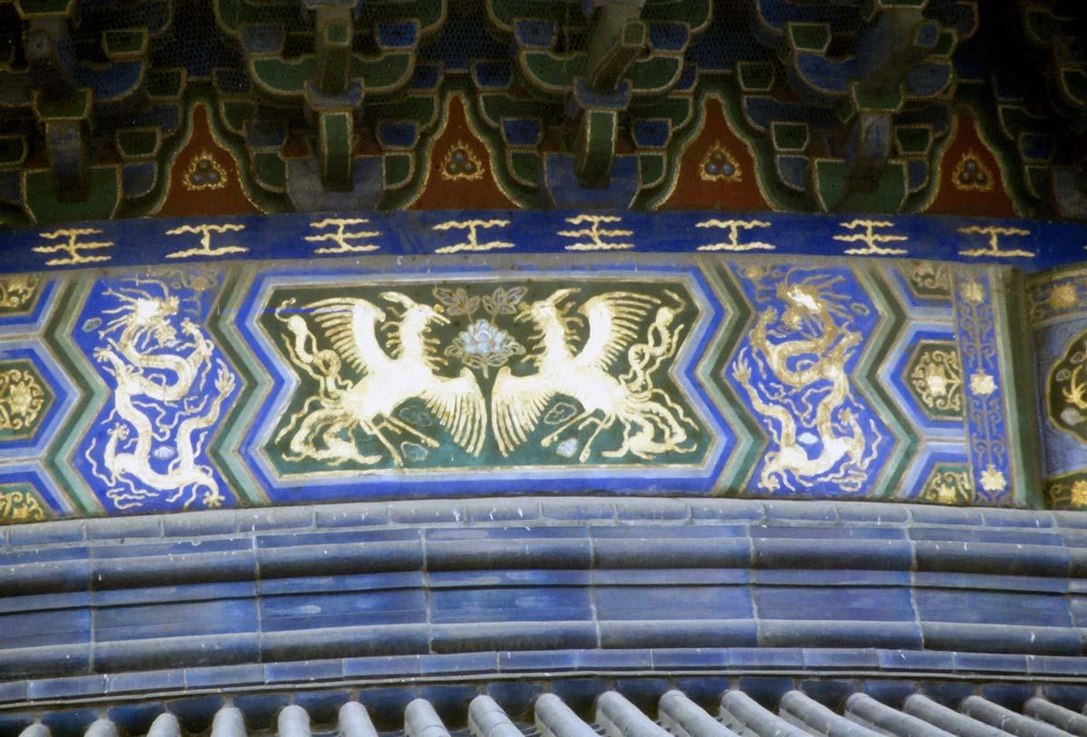 天壇にある龍と鳳凰の装飾