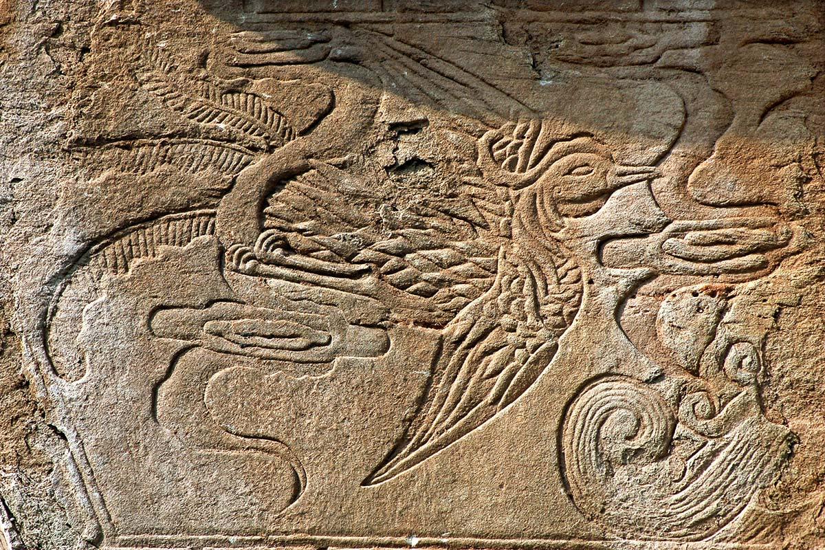 成都にある鳳凰の壁画