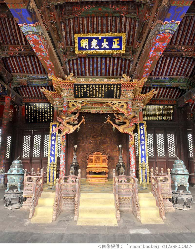 瀋陽故宮の龍の装飾