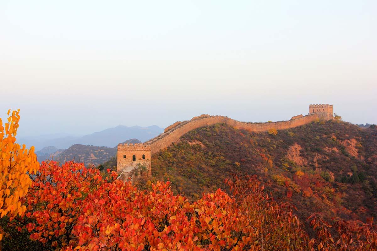 秋の万里の長城