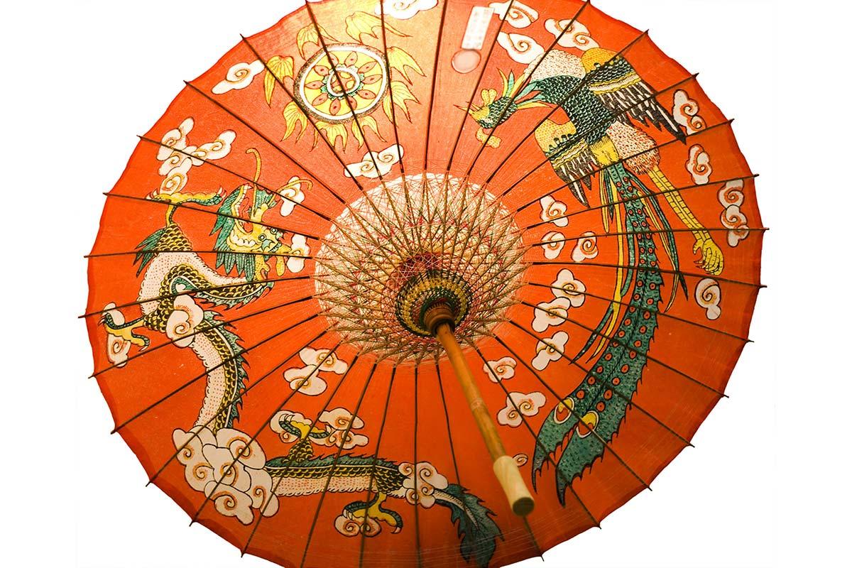 龍と鳳凰の傘