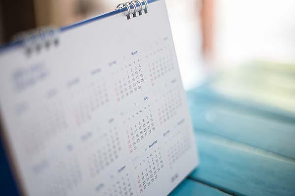 中国語の曜日と日付