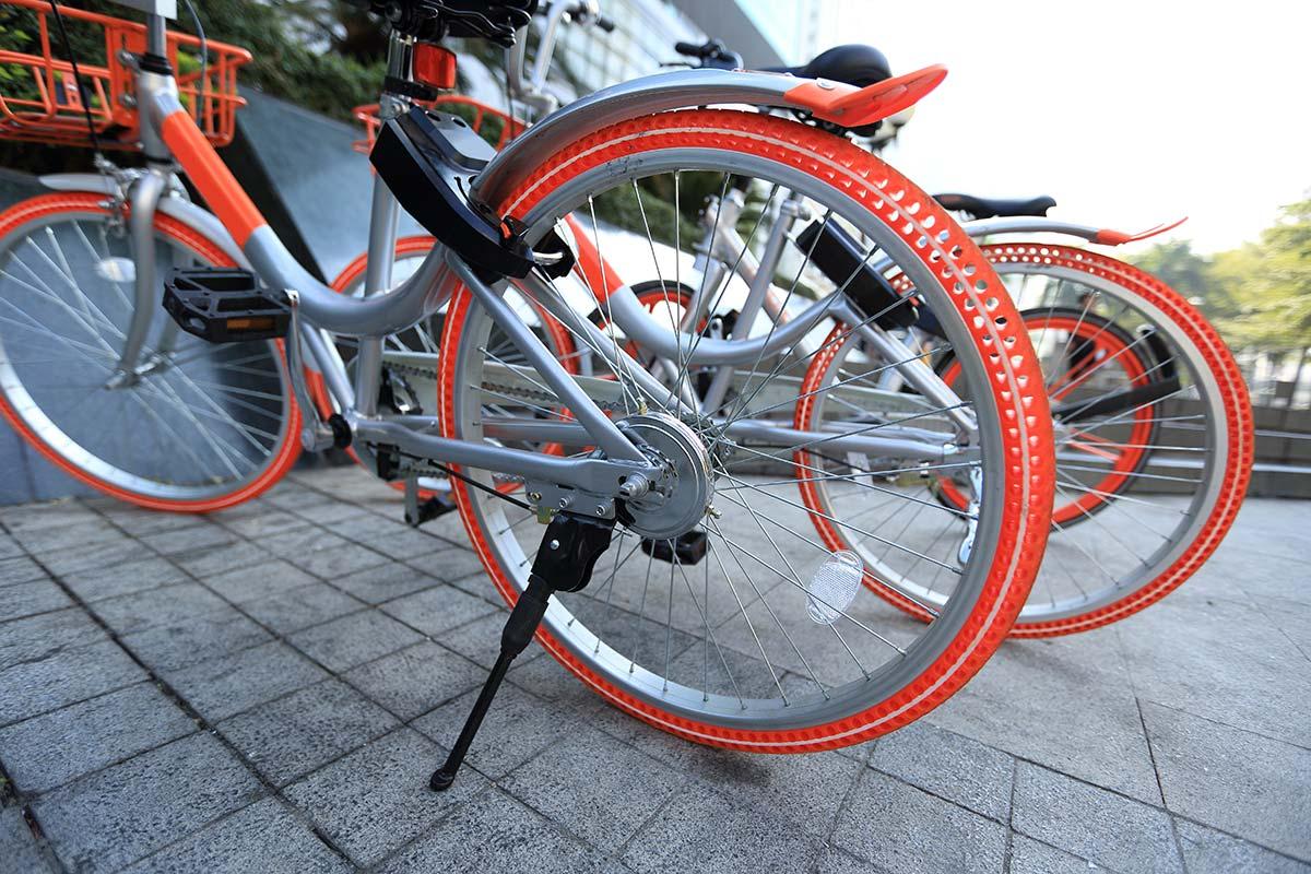 シェア自転車の盗難防止ロック